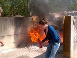 praktijkoefening brandje blussen